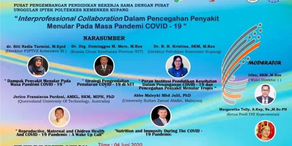 "WEBINAR NASIONAL: ""INTERPROFESSIONAL COLLABORATION DALAM PENCEGAHAN PENYAKIT MENULAR PADA MASA PENDEMIC COVID-19"